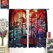 HERG Stranger Things Red Window Curtain Curtain
