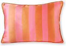 Hermies Cushion in orange and pink satin and velvet