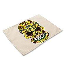 Herrdan 1pcs Skull Pattern Placemat Dining Table
