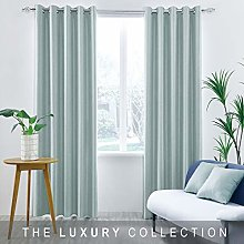 Herringbone Dobby Blackout Curtain Lined Eyelet