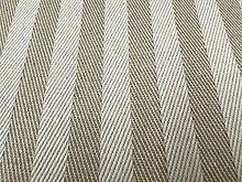 Herringbone Stripe Beige Ivory Linen 150cm