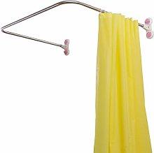 Hershii Curved Corner Shower Curtain Rod Wall