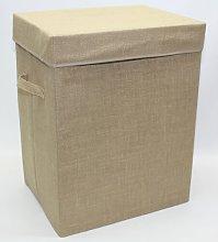 Hessian Folding Laundry Storage Laundry Bin House
