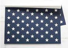 Hester & Cook - Stars On Blue Paper Placemats -