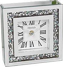 Hestia Crystal Boarder Mantel Clock
