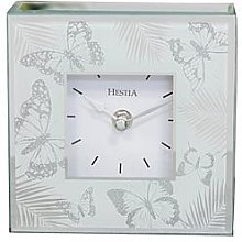 Hestia Glass Butterfly Mantel Clock