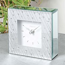 Hestia Glass Mantel Clock