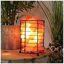Hestia Global Artisan Basket of Rocks Salt Lamp