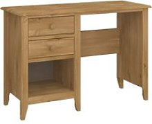 Heston Wooden Laptop Desk In Pine With 2 Drawers
