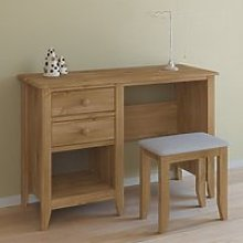Heston Wooden Laptop Desk In Pine With Stool