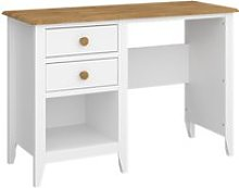 Heston Wooden Laptop Desk In White And Pine With 2