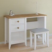 Heston Wooden Laptop Desk In White And Pine With