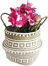 Hete-supply Seaweed Woven Flower Basket, Foldable
