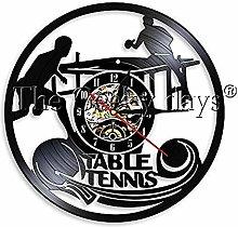 hetobea 1Piece Play Ping Pong Wall Clock Vinyl