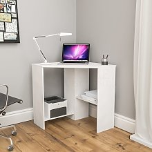 Hetton Corner Computer Desk, White
