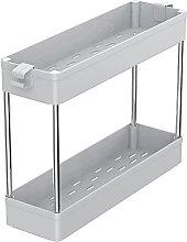 HEVÜY Storage Cart 4-Tier Rolling Utility Storage