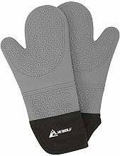HEWOLF Oven Mitts Silicone Heat Resistant Oven