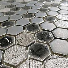 Hexagon Designer Grey and Black Mix Mosaic Tiles
