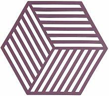 Hexagon Silicone Trivet, Beetroo