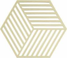 Hexagon Silicone Trivet, Limone