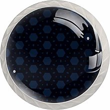 Hexagonal Glitter Kitchen Cabinet Knobs Round Home