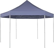 Hexagonal Pop-Up Foldable Marquee Dark Blue