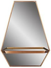 Hexagonal Shelf Mirror