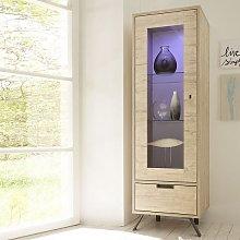 Heyford Display Cabinet Narrow In Sherwood Oak