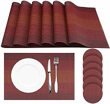 HEYOMART Place Mats and Coasters Non-slip