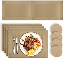 HEYOMART Placemats Table Mats Set with 4 x