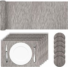 HEYOMART Placemats Table Mats Set with 6 x