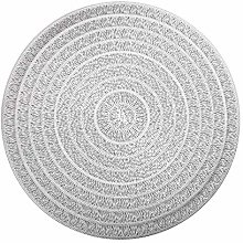 HEYOMART PVC Placemats Sets of 6 Round Place Mats