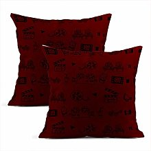 Heyqqo Set of 2 Cushion Covers Linen Seamless Hand