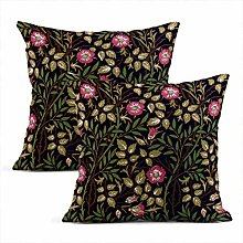 Heyqqo Set of 2 Cushion Covers Linen William