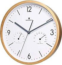 HEZHANG 12-Inch Wooden Living Room Quartz Clock