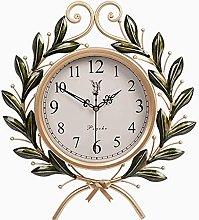 HEZHANG American Pastoral Mute Wall Clock Creative