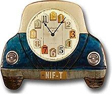 HEZHANG American Retro Mute Wall Clock Bar Art
