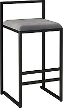 HEZHANG Bar Stools with Covered Seat and Metal