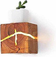 HEZHANG Crack Wall Lamp Solid Wood Energy Saving