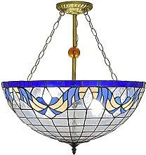 HEZHANG Creative Chandelier Mediterranean Blue