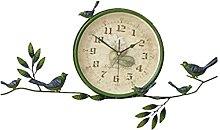 HEZHANG Creative Room Wall Art Wall Clock Silent