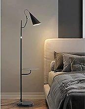HEZHANG Floor Lamp with Shelf, Nordic Minimalist