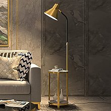 HEZHANG Floor Lamp with Table Attached, Nightstand