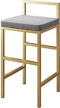 HEZHANG Kitchen Bar Stool with Backless and Gold