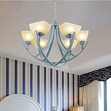 HEZHANG Led Mediterranean Living Room Lamp Blue