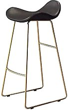 HEZHANG Modern Bar Stool with Footrest &Amp;