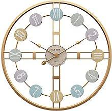 HEZHANG Modern Minimalist Round Wall Clock Living
