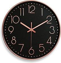 HEZHANG Nordic Creative Clock Free Punching Living