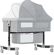 HEZHANG Portable Compact Bedside Crib, Movable
