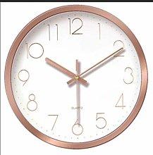 HEZHANG Wall Clock Mute Wall Clock 3D Stereo Round